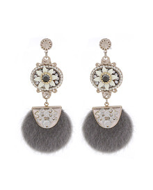 THE BALLADE_White flower_송치_Earrings