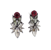 Marie Violet_siam&Black Diamond_Earrings