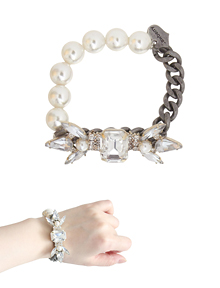 The D.niss_pearl+chain_Bracelet