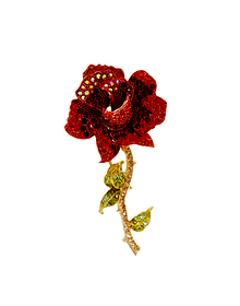 붉은 장미_Red Rose_Brooch