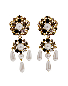 The Baroque_Colorless + pearl_Earrings