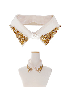 케이프_The Collar_Ivory+Glod_Fashion item