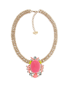 Fluorescence dress_Pink Point_Necklace