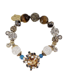 Beautiful Waltz_Blue+Yellow_gemstone_원석_Bracelet