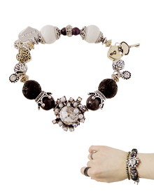 Beautiful Waltz_Black&White_gemstone_원석_Bracelet